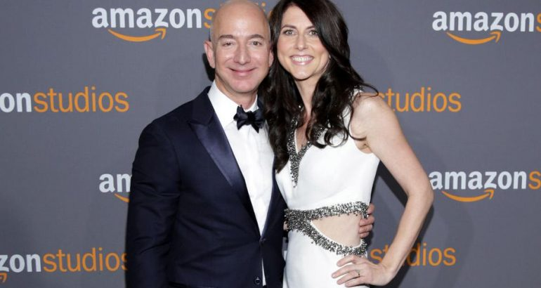 Jeff Bezos with his former wife