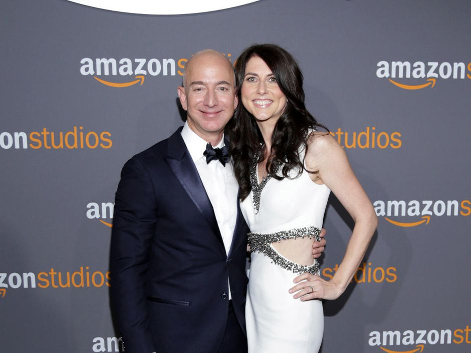 Amazon owner Jeff Bezos with his former wife