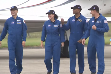 Astronauts Arrive for 2nd SpaceX Crew Flight at Launch Site