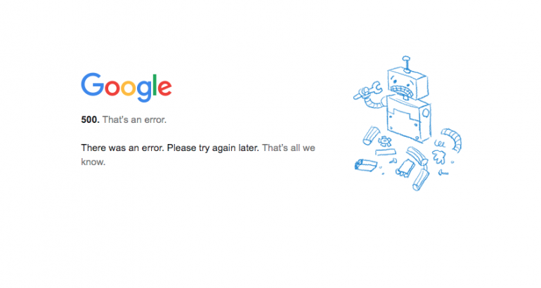 Google Services like Gmail, Google Docs, and YouTube are DOWN!