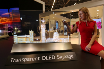 LG's New Transparent OLED Screen Can Act As COVID Barrier and Menu Display
