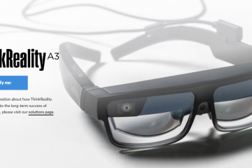 Lenovo CES 2021; ThinkReality A3 Is the Most Versatile Smart Glasses