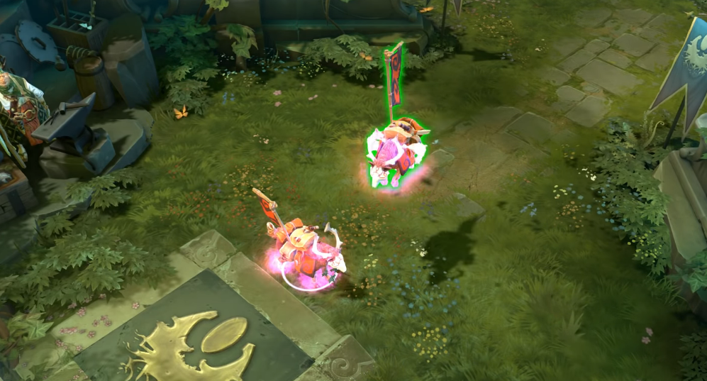 The Ethereal Flames Pink War Dog from DOTA 2, one of the most expensive in-game items ever.