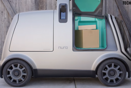 Domino's Pizza's Driverless Delivery with Nuro autonomous car in Houston