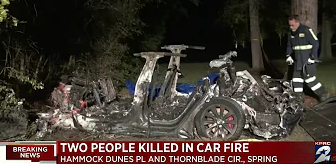 Tesla car crash in Texas leaving two men dead in the incident