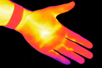 Research On The Human Hand as a Powerless Infrared Radiation Source