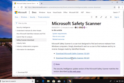 Windows 10 offers free Microsoft Safety Scanner to get rid of malware