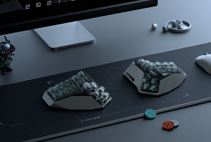 AM HATSU: The World's First Wireless, Split, And Organically-shaped Keyboard