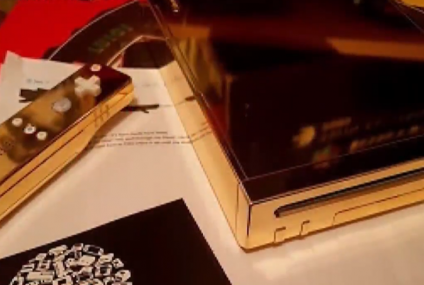 Collector Auctioning a 24-karat Gold-Plated Nintendo Wii Designed for Queen Elizabeth