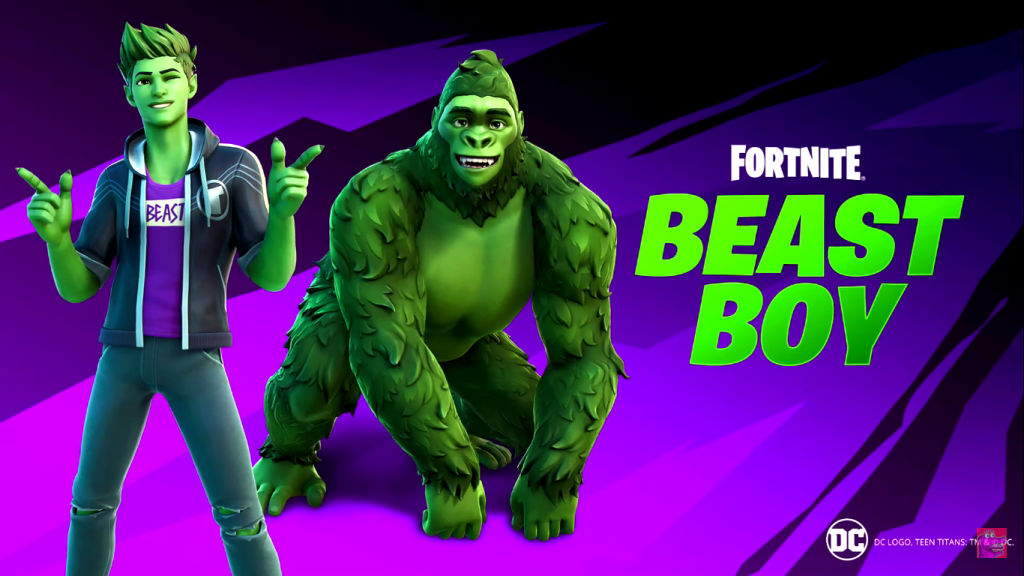 Fortnite's new update features little changes and fixes. It also includes the debut of Beat Boy and his transformations. Beast Boy is coming to Fortnite now!
