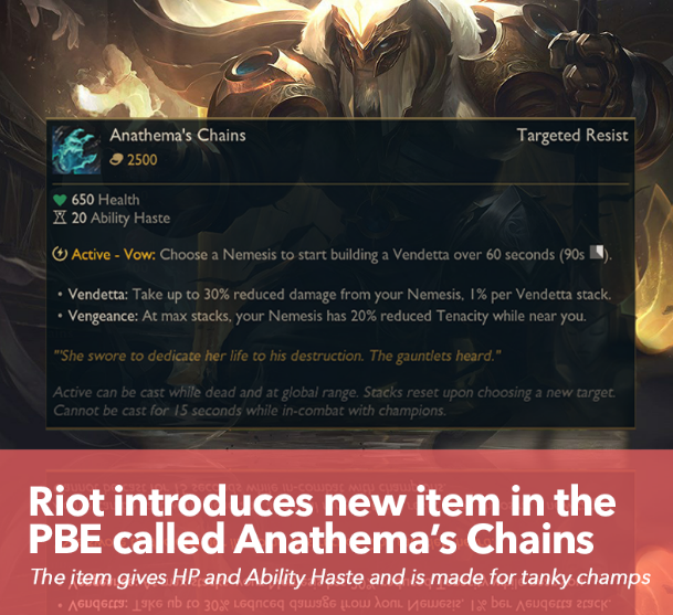 League of Legends New Item Anathema Chains Details: How Does It Work?