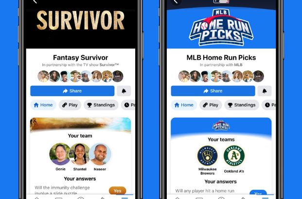 Facebook adds 'Fantasy Games' for iOS and Android